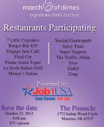 Job1USA › Toledo Signature Chefs Auction – March of Dimes